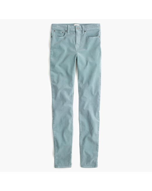 "J.Crew | Blue 9"" High-rise Toothpick Corduroy Pant 