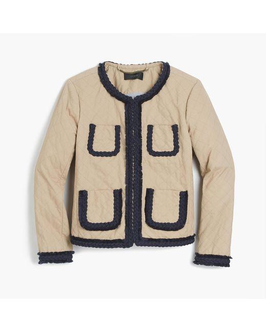 J.Crew | Natural Quilted Safari Jacket | Lyst