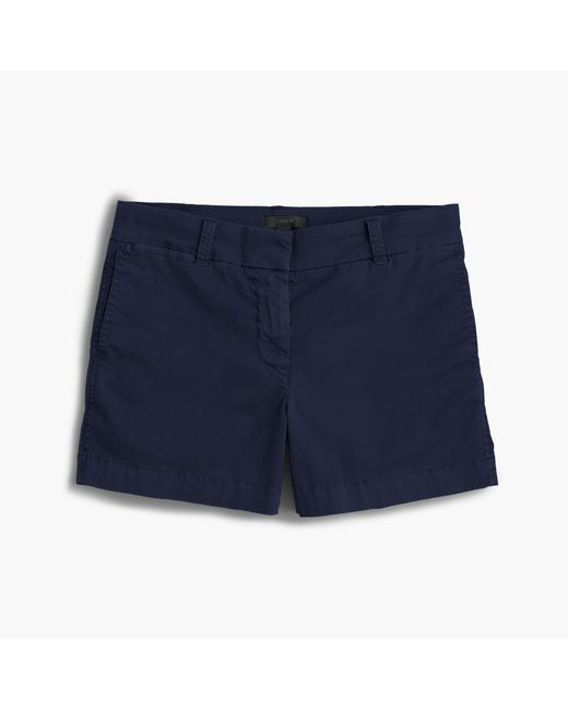"J.Crew | Blue 4"" Stretch Chino Short 