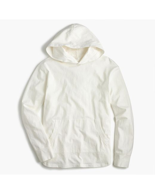 J.Crew | White Cotton Pullover Hoodie for Men | Lyst