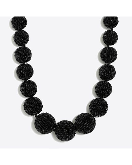 J.Crew - Black Beaded Orb Statement Necklace - Lyst