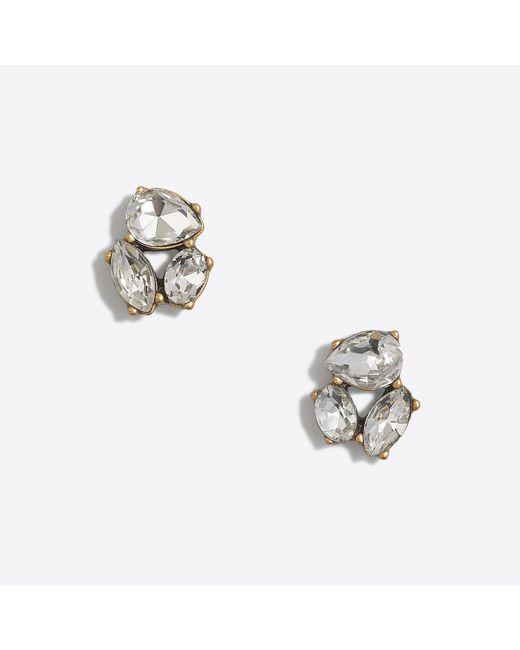 J.Crew - Metallic Crystal Trio Earrings - Lyst