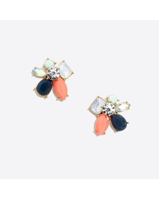 J.Crew - Blue Multicolor Cluster Earrings - Lyst