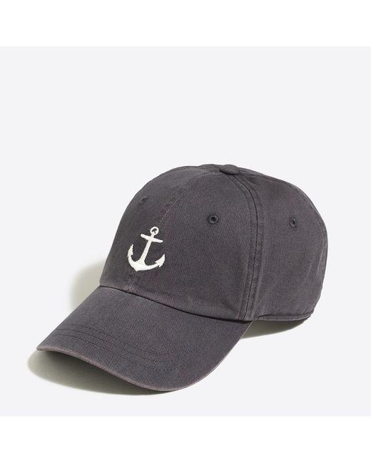 J.Crew - Blue Sunwashed Baseball Cap - Lyst