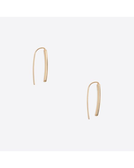 J.Crew - Metallic Golden Hook Earrings - Lyst