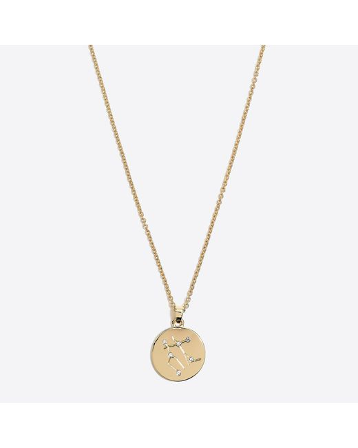 J.Crew - Metallic Zodiac Pendant Necklace - Lyst