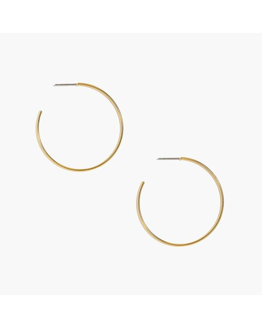 J.Crew - Metallic Simple Hoop Earrings - Lyst