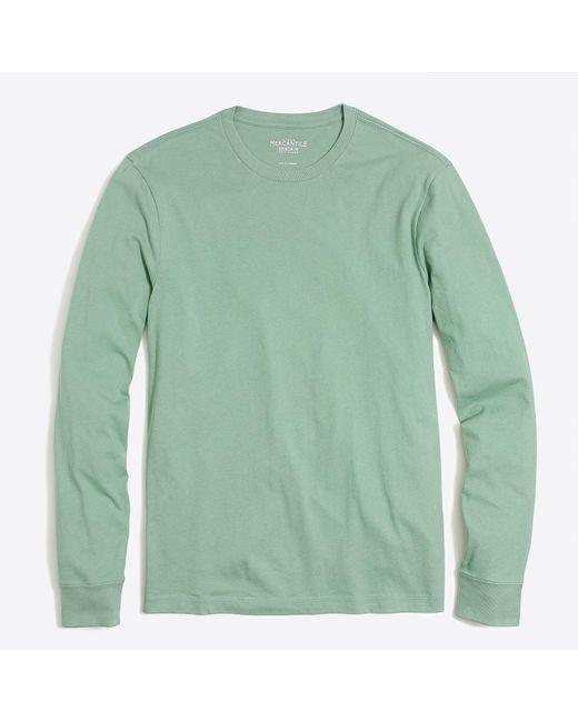 J.Crew - Green J. Crew Mercantile Long-sleeve T-shirt for Men - Lyst