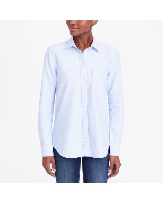 J.Crew - Blue J.crew Mercantile Oxford Shirt - Lyst