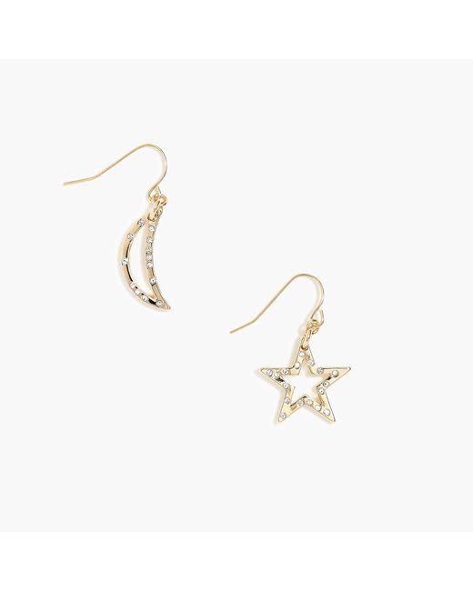 J.Crew - Metallic Star And Moon Drop Earrings - Lyst