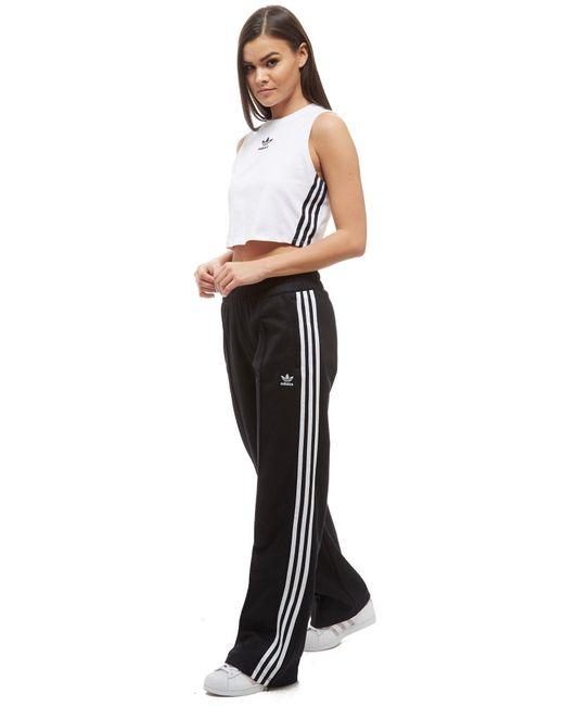 Adidas originals 3 Stripe Crop Tank Top in White