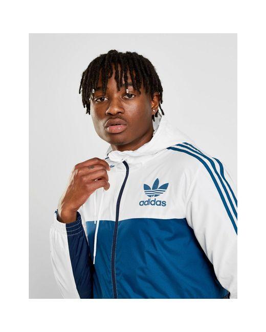 709e549e0 Adidas Originals - Blue Id96 Zip Through Jacket for Men - Lyst ...