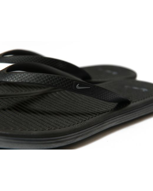 ... Nike - Black Solarsoft Flip Flops for Men - Lyst ...