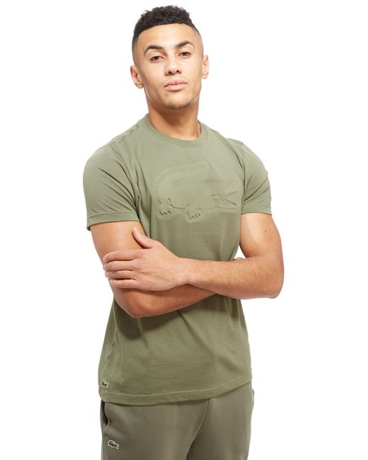 Lacoste | Green Embossed Croc T-shirt for Men | Lyst