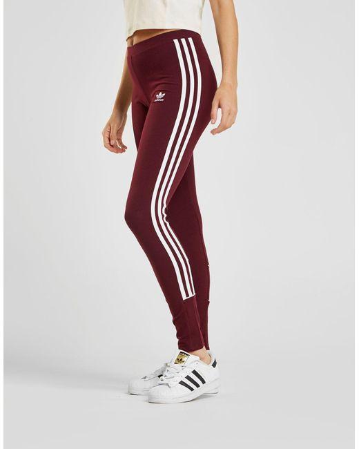 7309bdf3d ... Adidas Originals - Red 3-stripes Piping Leggings - Lyst ...