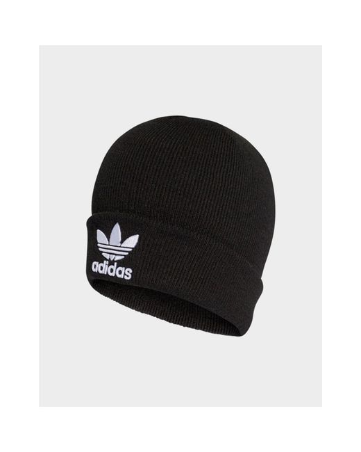 best sneakers 2bef0 ff869 Adidas Originals - Black Trefoil Beanie - Lyst ...
