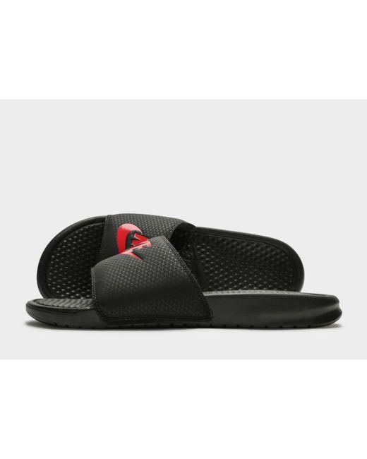 595fe704ff05a Nike - Black Benassi Just Do It Slides for Men - Lyst ...
