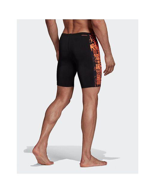 02ad61375c ... Adidas Originals - Black Placed Print Pro Swim Jammers for Men - Lyst  ...