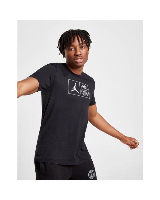 fc6237a6e125 Nike - Black X Paris Saint Germain Jock Tag T-shirt for Men - Lyst ...