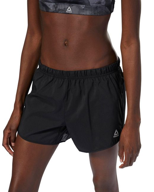 Reebok - Black Running 4-inch Shorts - Lyst