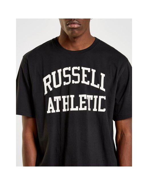 ... Russell Athletic - Black Arch Logo Short Sleeve T-shirt for Men - Lyst  ... 93160b3c241ac