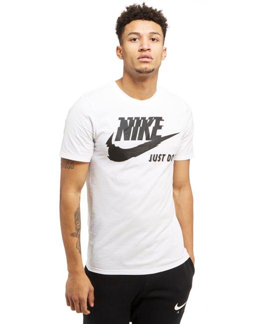 Nike | White Futura Just Do It T-shirt for Men | Lyst