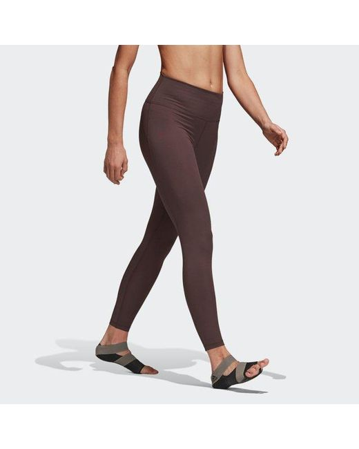 bdc234817db733 ... Adidas - Red Believe This High-rise 7/8 Wanderlust Tights - Lyst ...