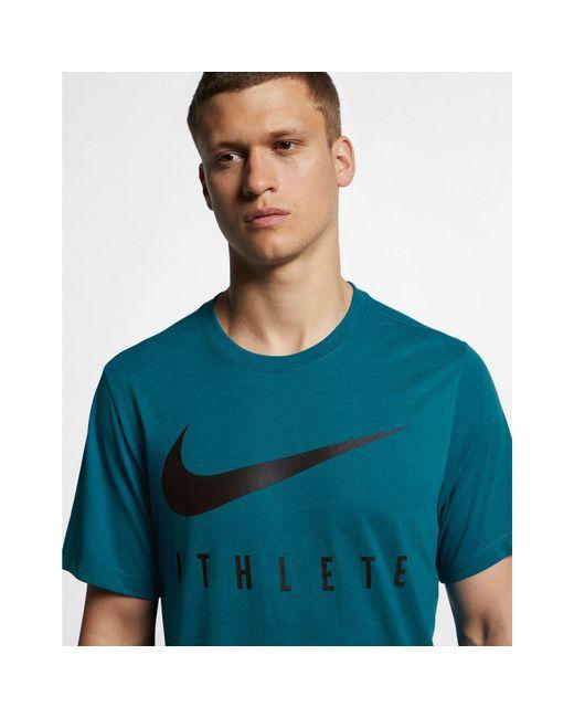 52d2efd13 ... Lyst Nike - Green Dri-fit Men's Training T-shirt for Men ...