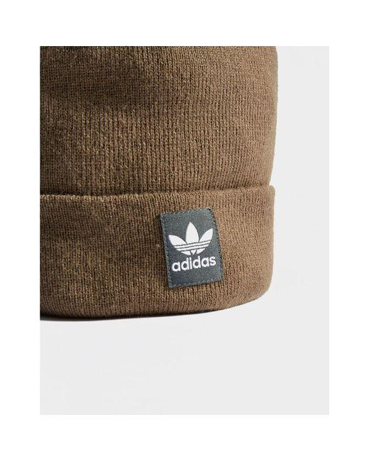 f20e65dec7e ... Adidas Originals - Brown Logo Pom Beanie for Men - Lyst ...