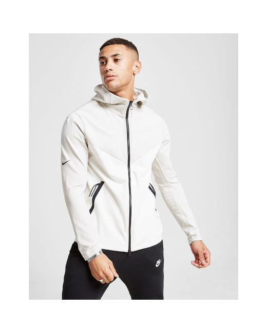 Nike - White Tech Ponte Full Zip Hoodie for Men - Lyst