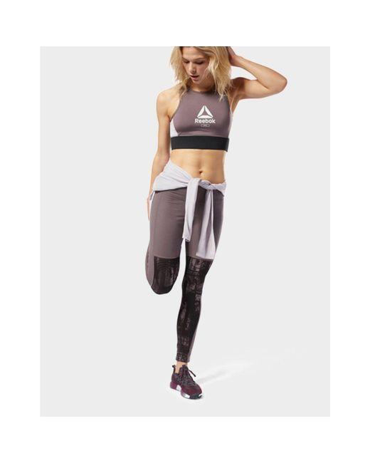 dd4e44b3b469b Reebok Training Essentials Pannel Legging in Gray - Save 3% - Lyst