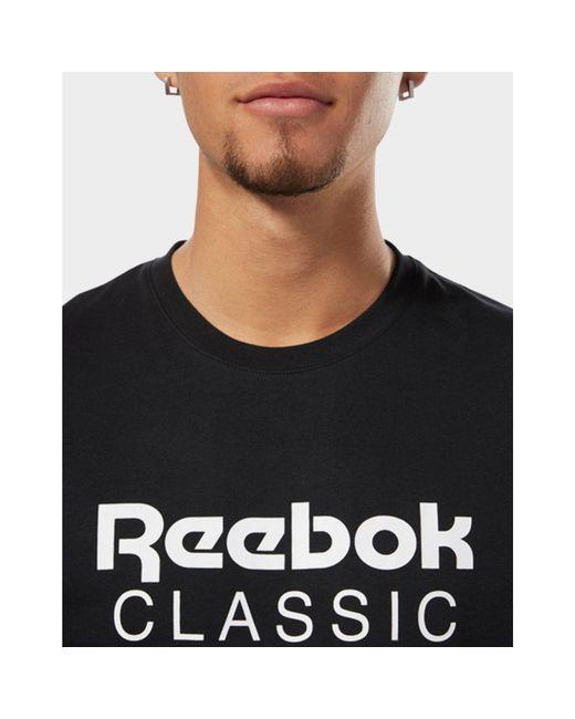 86f3315c Reebok Classics Unisex Short Sleeve Extended Tee in Black for Men ...