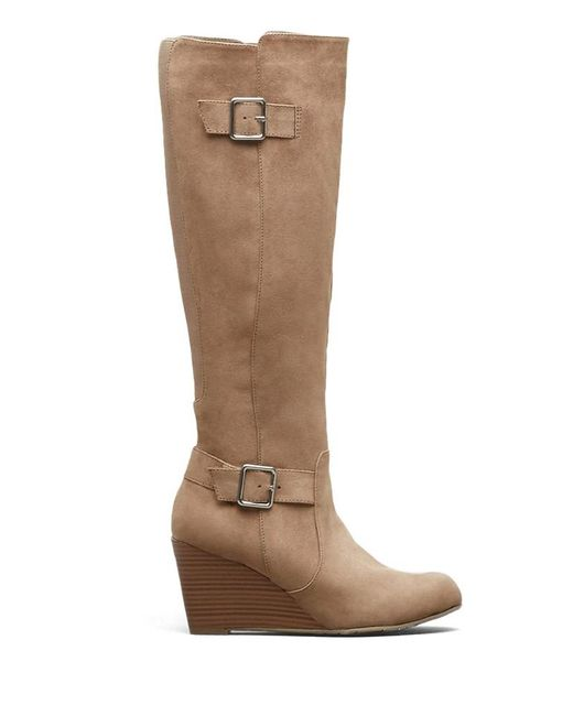 Kenneth Cole | Brown Kenneth Cole Magnolia Tall Wedge Boot | Lyst