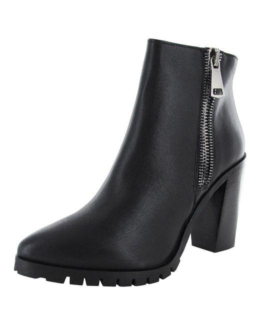 Steve Madden - Black Womens Koraa Stacked Heel Bootie Shoe - Lyst