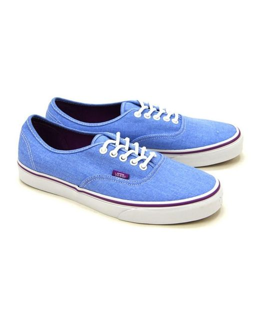 8deb712968 Vans - Blue Unisex Authentic Washed Twill Sneakers M3.5 W5 for Men - Lyst