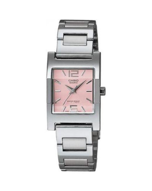 G-Shock - Pink Core Ltp1283d-4a Silver Stainless-steel Quartz Watch - Lyst