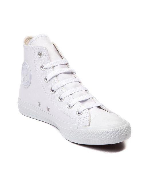 Converse   Chuck Taylor All Star Hi Shoe White Mono 10 D(m) Us   Lyst