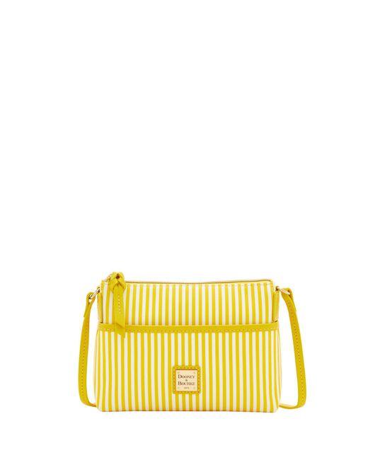 Dooney & Bourke | Yellow Db Stripe Ginger Crossbody | Lyst