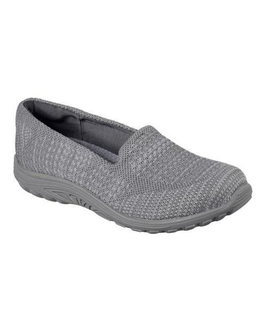Skechers - Gray Relaxed Fit Bikers Ripples Mary Jane - Lyst