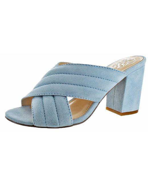 Vince Camuto - Blue Bemia Open Toe Criss Cross Heeled Sandal Shoes - Lyst