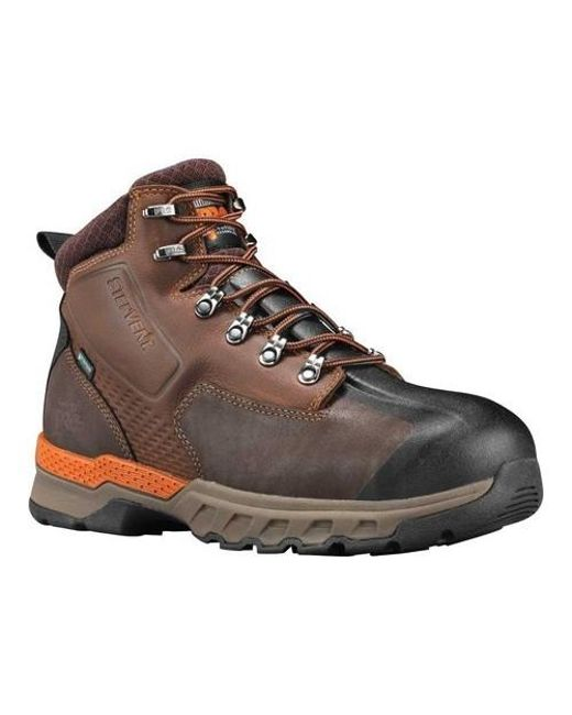 64031aff6c9 Men's Brown Pro 6' Downdraft Alloy Safety Toe Waterproof Boot