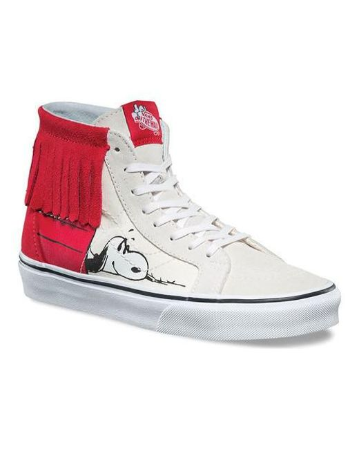 4b7e3a6ae9 Lyst - Vans Unisex Sk8-hi Moc Peanuts in White