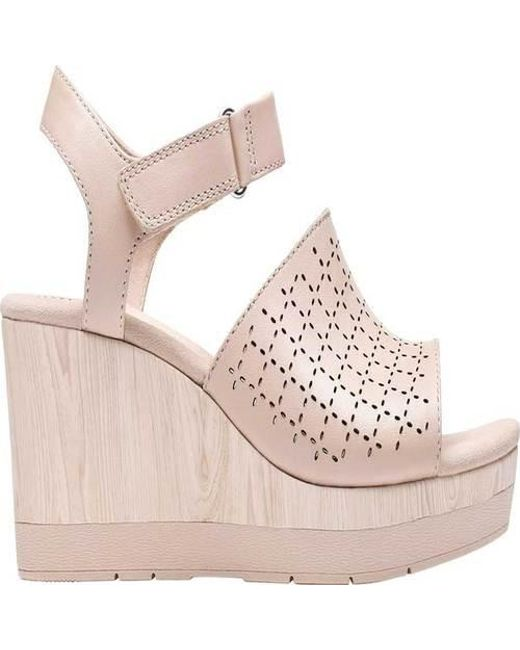 c066ac89b377 Lyst - Clarks Cammy Glory Wedge Sandal in Pink