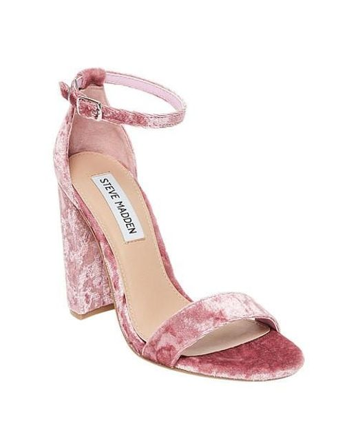 adfdc8ff8762 Lyst - Steve Madden Carrson Ankle Strap Sandal in Pink - Save 57%