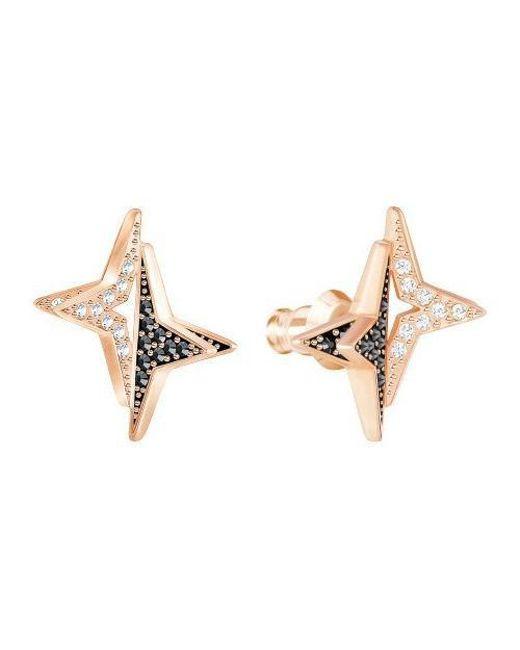 Swarovski - Metallic Halve Stud Pierced Earrings - Multi - Lyst