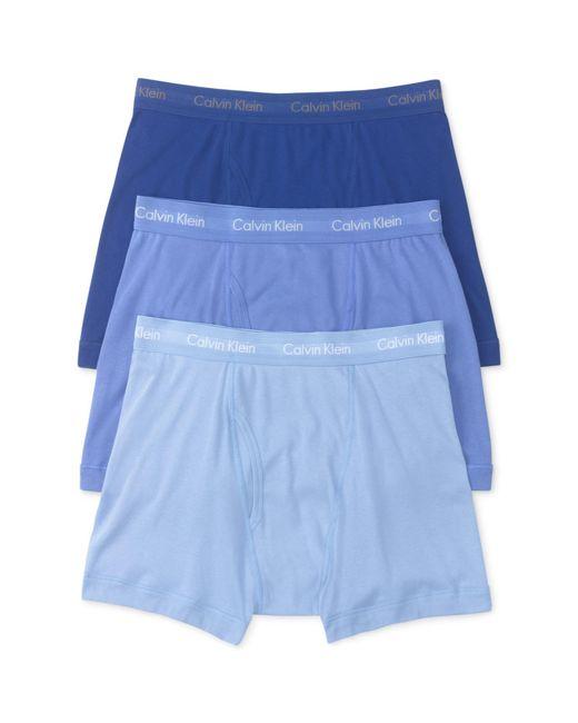 Calvin Klein - Blue Cotton Classics Boxer Briefs, Pack Of 3 for Men - Lyst