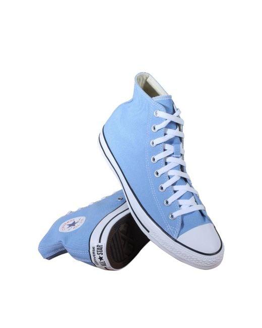 Converse - Blue Chuck Taylor All Star Seasonal High Top Fashion Shoe - Lyst