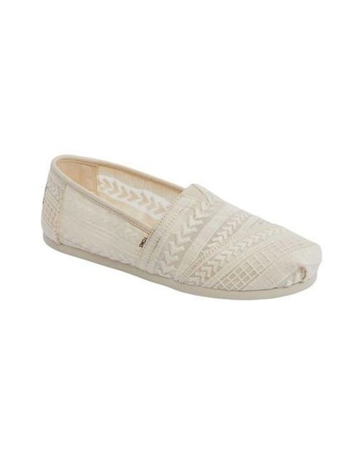 e100b5c096a Lyst - TOMS Natural Arrow Embroidered Mesh Women s Classics in ...