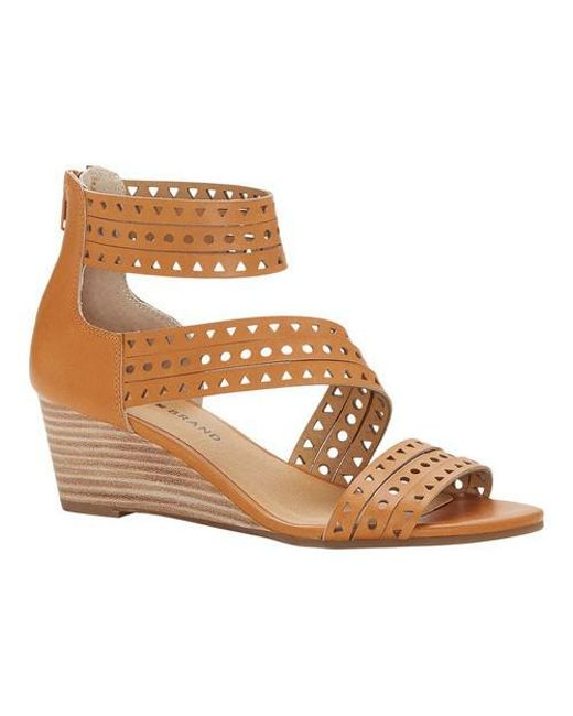 Lucky Brand - Brown Jaleela Wedge Sandal - Lyst