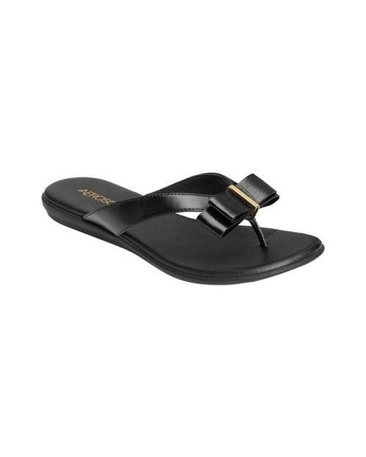 ab3bbf2e9ef8 Lyst - Aerosoles Mirachle Thong Sandal in Black - Save 20%
